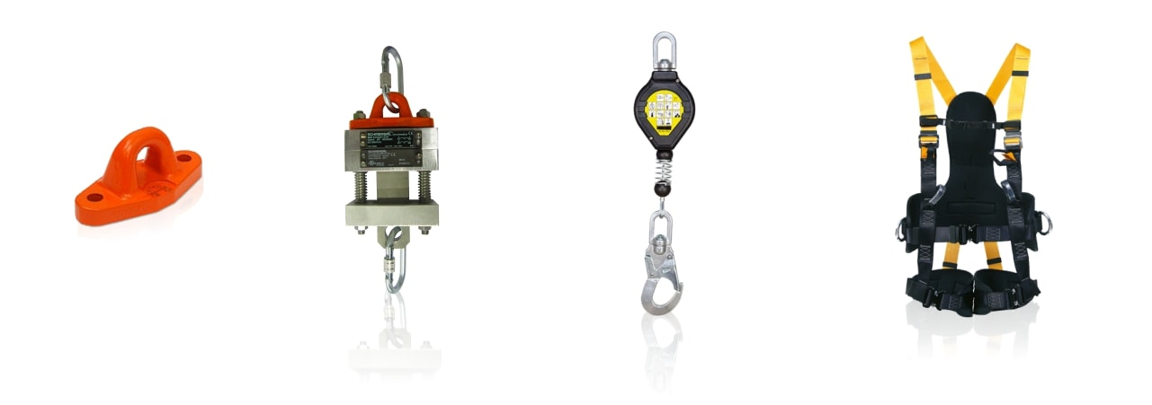 Fall protection system elements