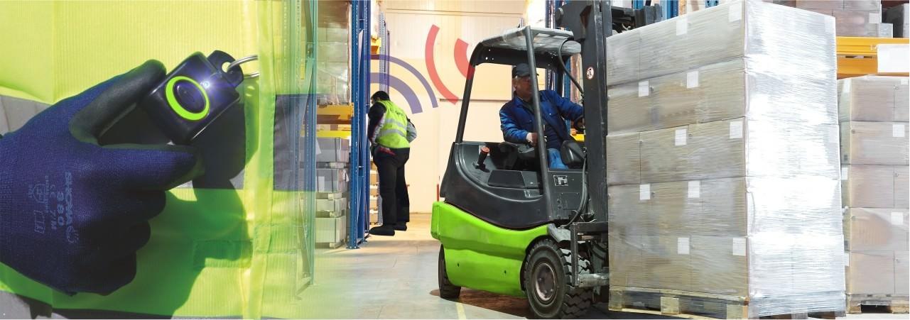 Forklift pedestrian detector claitec