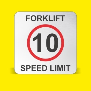 What should the speed limit of a forklift be?