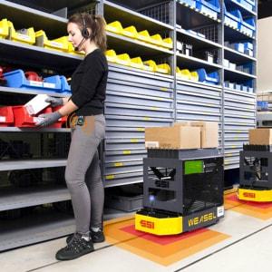 Vehículos automáticos en la industria: riesgos y soluciones