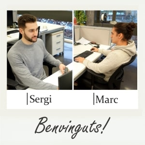 Benvinguts, Sergi i Marc!