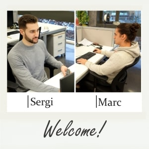 Welcome to the team, Sergi and Marc!